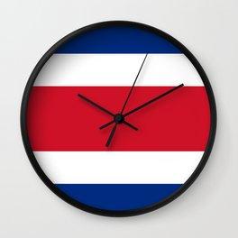 Costa Rica Flag Wall Clock