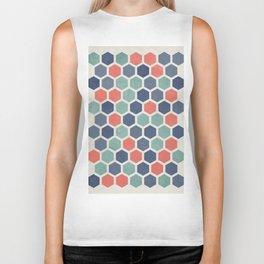 Honeycomb Geometrics, Vintage, Throw-Pillows, Art-Prints Biker Tank