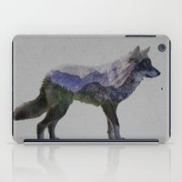 rocky iPad Cases featuring The Rocky Mountain Gray Wolf by Davies Babies