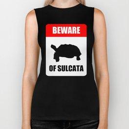 Beware of Sulcata Biker Tank