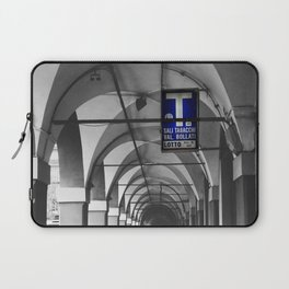 Blue Tabacchi Street Photography in Bologna Laptop Sleeve