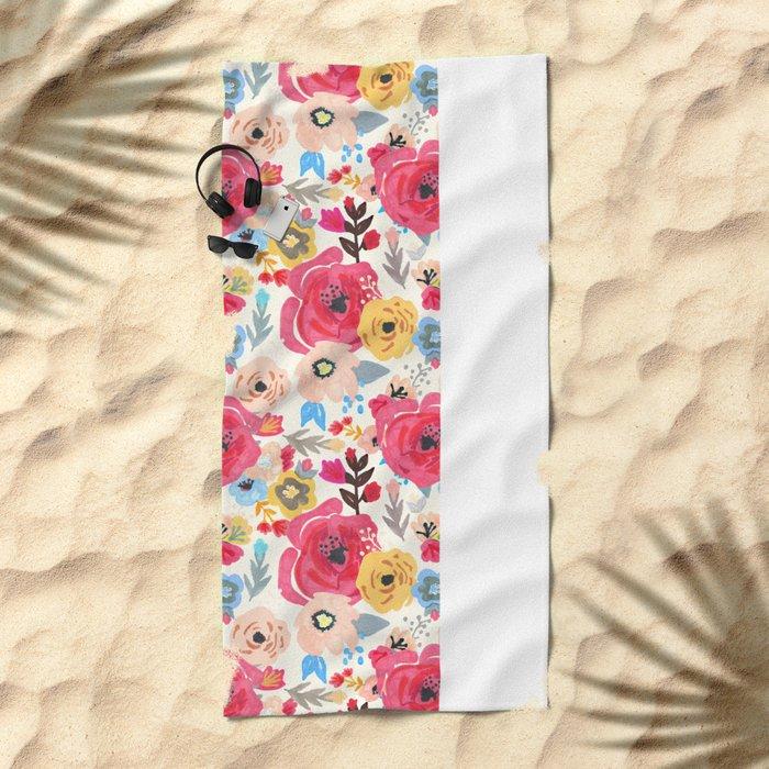 Summer Flora Beach Towel