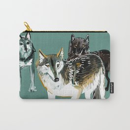 Northwestern wolf Carry-All Pouch
