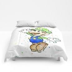 Luigi Watercolor Mario Nintendo Art Comforters