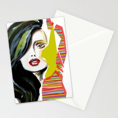 Fashion face woman portrait Stationery Cards