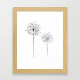 Two  Dandelion Framed Art Print