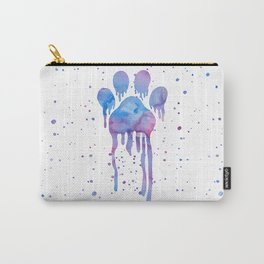 Watercolor Paw Print Carry-All Pouch