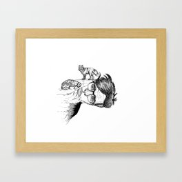 fox planet Framed Art Print