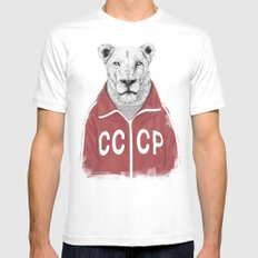 Soviet lion LARGE White Mens Fitted Tee