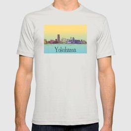 Yokohama Japan cityscape skyline lanscape T-shirt