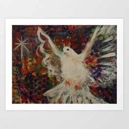 Peacedove and Star Art Print