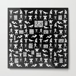 Work Hard Everything is Possible... Gym Motivational Quote Metal Print