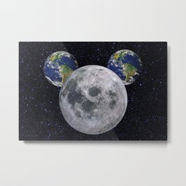 Moony Mouse Metal Print