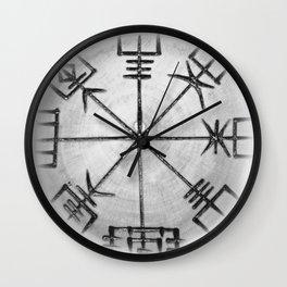 NorseCompass - Vegvísir Wall Clock