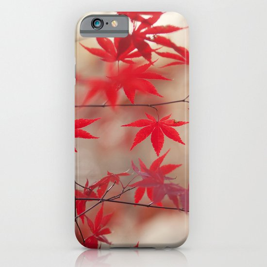Cream and Red iPhone & iPod Case