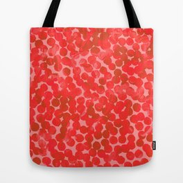 Coral Red Dots Tote Bag
