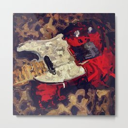 Abstract Tele Oil Painting Metal Print