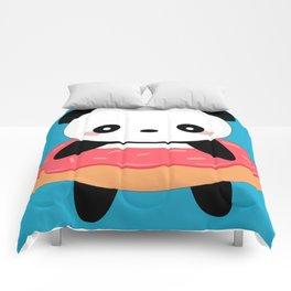 Kawaii Donut Panda Comforters