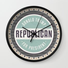 Trump For President Wall Clock