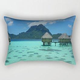 Bora Bora Bungalow Rectangular Pillow