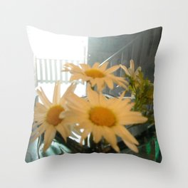 Chicago Daisies ~ flowers Throw Pillow