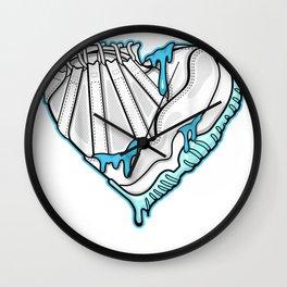 SNK Heart To Match Jordan 11 Low Legend Blue T-Shirt Wall Clock
