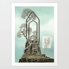 Music score Art Print