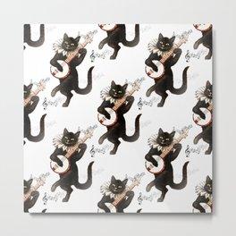 Dancing Cats Metal Print
