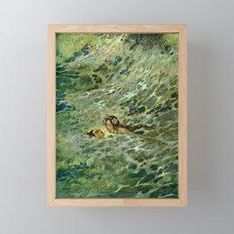 """The Mermaid in the Sea"" by Edmund Dulac Framed Mini Art Print"