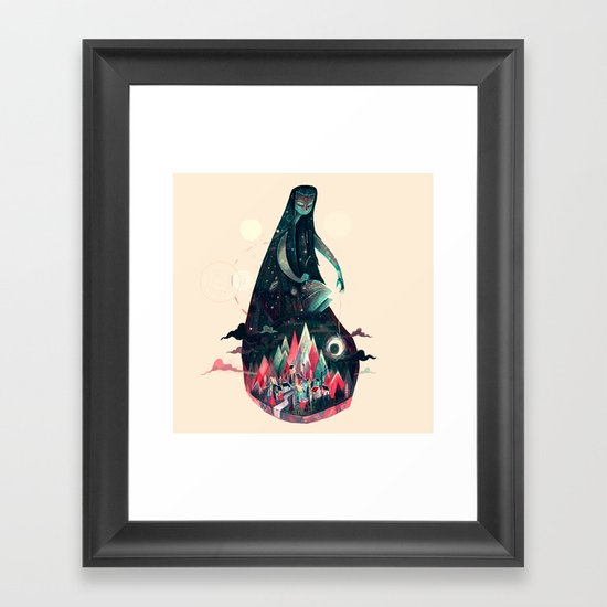 Night Time. Framed Art Print