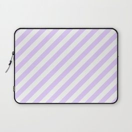 Chalky Pale Lilac Pastel and White Candy Cane Stripes Laptop Sleeve