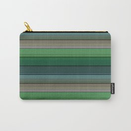 Striped green-gray pattern Carry-All Pouch