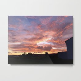 Sunset in Heredia Metal Print