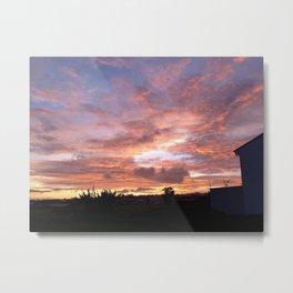 Sunset in Heredia Metal Print