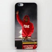 kendrick lamar iPhone & iPod Skins featuring Kendrick Lamar  by Porterhouse LA