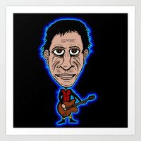 lou reed Art Prints featuring Lou Reed Rock God by Adam Metzner