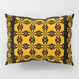 African Ethnic Pattern Black and Orange Pillow Sham