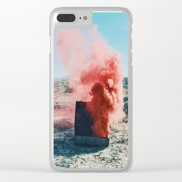 Torch with Pink Smoke Clear iPhone Case