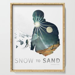 """Snow To Sand"" Official One-Sheet Poster Serving Tray"