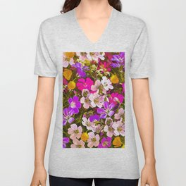 Colorful meadow flowers #Society6 #buyart Unisex V-Neck