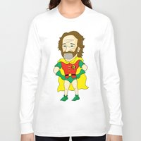 robin williams Long Sleeve T-shirts featuring Robin as Robin by Chris Piascik