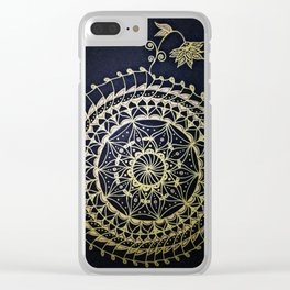 Golden Web Clear iPhone Case