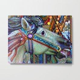 Carousel horse Metal Print