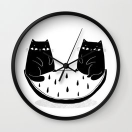 Cats in perfect balance Wall Clock