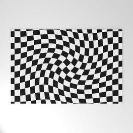 Check VIII - Black Twist — Checkerboard Print Welcome Mat