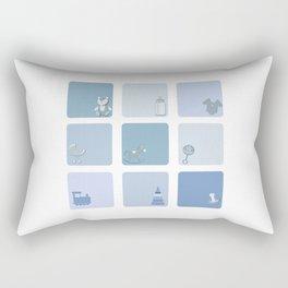 baby boy set Rectangular Pillow