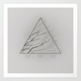 Edges of the White Art Print