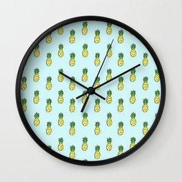 Pineapples 3.0 Wall Clock