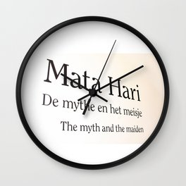 Mata Hari part 2 Wall Clock