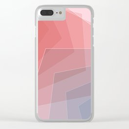 - he and she - Geometric minimalist art Clear iPhone Case